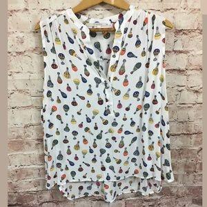 fun2fun 3X Hot Air Balloon Print Sleeveless Shirt